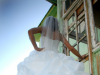 Bride in front of Southern Cross Superintendent\'s House