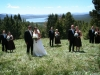 Wedding party with views in the background